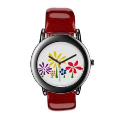 Primitive Art Flowers Watch #daisies #flowers #art #watches And www.zazzle.com/naturesmiles*