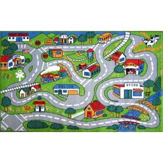 Fun Rugs Time Country Road Kids Rug