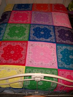 Handmade Very Colorful Quilt.  A must have for every little girl.
