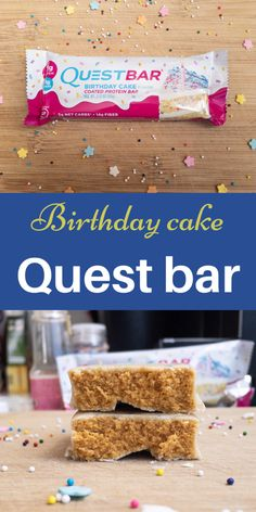 A low sugar and high protein bar. This birthday cake dessert is a great healthy snack. Satisfy your sweet tooth in a nutritious way. Quest Bar Review, Best Protein Bars, Quest Bars, Cake Bars, Low Sugar, Healthy Desserts, Sweet Tooth, Birthday Cake, Food