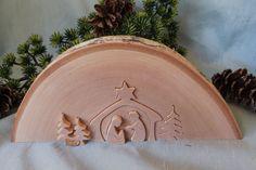 Birch Wood Slab with Nativity holy family by CarmelasCoastalCraft, $25.00