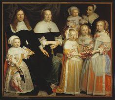 Jan Albertsz. Rotius: Portrait of Meyndert Sonck and Agatha van Neck with their children (1662