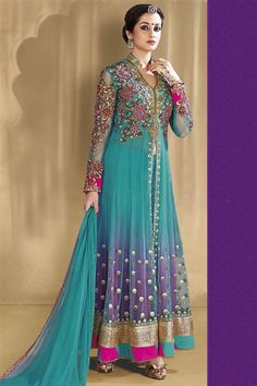 Fawn Georgette Party wear Salwar Suit