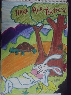 A visual drawn by a student for a Story Writing activity at GHPS, Hargobind Enclave, New Delhi, India.