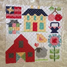 This just needs trimming and binding. This has been so much fun. I squeezed in as many #farmgirlvintage blocks as I could in this mini. I hope my swap partner likes it! #loriholtminiquiltswap #lhteampolkadotstitches