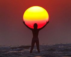 holding up the sun