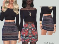 The Sims Resource: Etnique Skirt by Karla Lavigne • Sims 4 Downloads