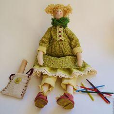 Купить Кукла Тильда художница - кукла интерьерная, кукла Тильда, тильда, кукла в стиле Тильда ♡
