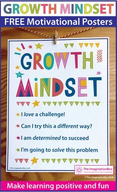 FREE Growth Mindset Posters and Writing Activity Growth Mindset Classroom, Growth Mindset Posters, Mindset Quotes, Back To School Art, Back To School Bulletin Boards, Beginning Of School, Brain Based Learning, Writing Activities, Writing Resources