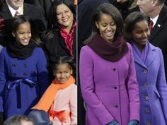 Malia and Sasha Obama in J. Crew and Kate Spade