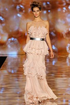 A pink dress from the Badgley Mischka spring 2012 collection