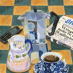'Coffee Break' by Jane Dunn Borresen. New print available on - http://fineartamerica.com/featured/coffee-break-jane-dunn-borresen.html  Acrylic Print $93