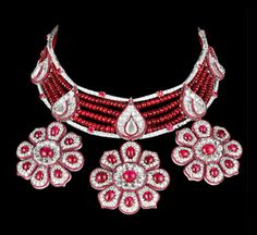 Bogh-Art Mughal Style Ruby Diamond Necklace