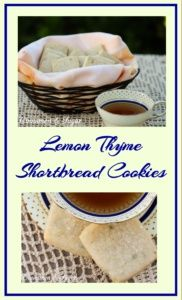 Delicately scented Lemon Thyme Cookies are flaky shortbread style cookies that melt in your mouth providing a refreshing taste for a simple dessert.