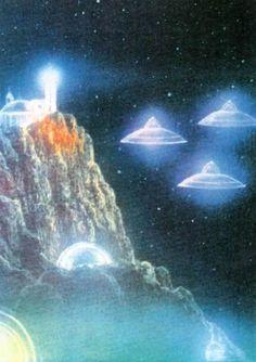 Space Saucers.  #Cinabre #IwanttoBelieve #SpaceSaucers