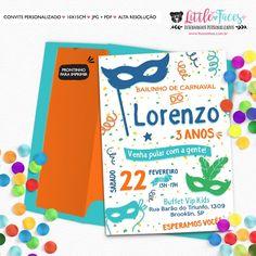 Convite Aniversário Bailinho de Carnaval para imprimir