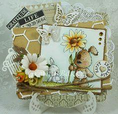 Het kaartenhoekje van Gretha: Blog Hop Lili of the Valley  This sweet stamp from LOVT is called Fabulous Flower
