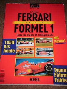 FERRARI F1 PETER COLLINS MIKE HAWTHORNE GILLES VILLENEUVE NIKI LAUDA PHIL HILL Ferrari F1, Gilles Villeneuve, Formula 1, Celebration, German, Poster, Racing, Books, Ebay