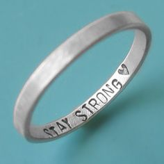 Simple ring with a message from your loved one that only you can see. Special for long distance relationships.