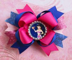 Princess Jasmine hair bow Aladdin over the top by JaybeePepper, $7.00