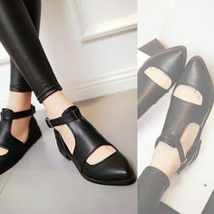 Pointed Toe Women Flats Buckle Pu Leather Shoes Woman 3396 Heels: approx cm Platform: approx – cm Color: Black, Red, Yellow Size: US 12 (All Measurement In Cm And Please Note Note:Use Size Us 5 As Measurement Sta High Heel Pumps, Pumps Heels, Shoes Heels Boots, Heeled Boots, Leather Shoes, Pu Leather, Hiking Shoes, Beautiful Shoes, Womens Flats