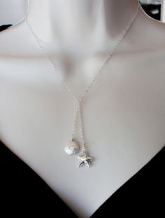 Sterling Star of the Sea and Coin Pearl Necklace. $31.50, via Etsy.
