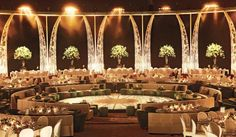 #GOWSRedesign rotunda seating with garden decor wedding decor idea