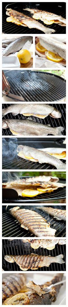 Whole Roast Trout With Potatoes And Asparagus Recipe — Dishmaps