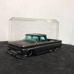 Custom SATIN Hot Wheels 62 Chevy Pickup 348 2