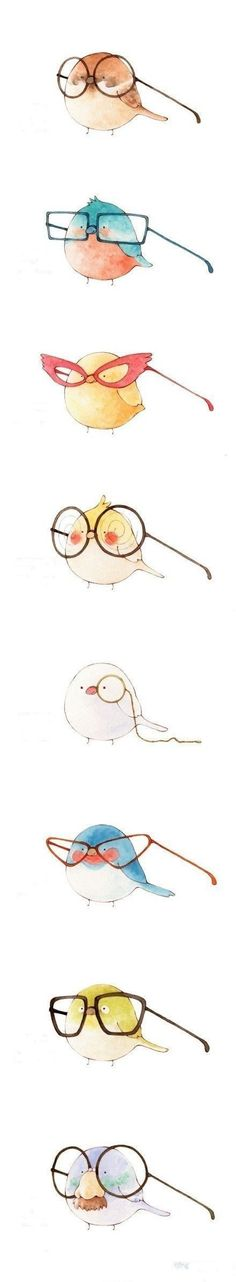 Kawaii birds :O Kawaii, Cute Birds, Illustrations, Cute Illustration, Bird Art, Cute Art, Watercolor Art, Art Drawings, Drawing Art