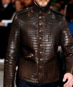 Versace Crocodile Skin Jacket