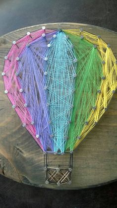 Hot Air Balloon String Art by MakeupAndMudCrafts on Etsy