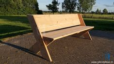 Tuinbank Cross | JohnnyBlue Outdoor Wood Projects, Outdoor Furniture Plans, Wooden Pallet Projects, Wooden Pallet Furniture, Woodworking Furniture Plans, Wood Bench Plans, Diy Wood Bench, Outside Benches, Wood Craft Patterns