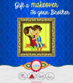 How about #gifting a classy #makeover to your brother or sister ????  On this #rakshabandhan, Celebrate the Festival of togetherness, nostalgic childhood memories, unlimited fights with your siblings and infinite love for each other with Jyovis ...  Its time to create some long lasting memories for your brother/ sister.... Gift a #makeover to your loved one...
