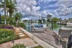 Dock: #MadeiraBeach #CrystalIsland #Florida #WaterFront #Homes #ForSale