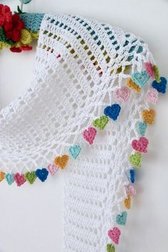 Cherry Heart crochet patterns to buy and to downlo…Latest Ideas For Crochet Designs Cherry Coronary heart crochet patterns to purchase and to obtain at no cost. Free Crochet Patterns to Decorate Your Home for the Holidays including stocking, orname Poncho Crochet, Mode Crochet, Tunisian Crochet, Crochet Scarves, Crochet Motif, Easy Crochet, Crochet Flowers, Crochet Baby, Crochet Blankets