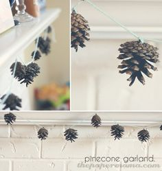 Pinecone Garland by The Paper Mama,