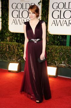 Emma Stone in Lanvin at the Golden Globes 2012