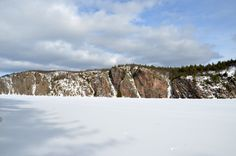 Mazinaw Rock in Winter, Bon Echo Provincial Park (Photo Credit: C. McPherson)
