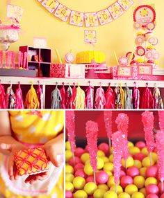 You are My Sunshine Party - Pizzazzerie has tons of cute Birthday party ideas