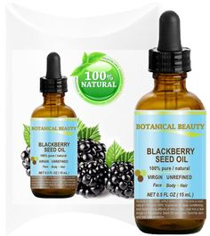 "BLACKBERRY SEED OIL 100% Pure / Natural / Virgin/ Unrefined. Cold Pressed / Undiluted Carrier Oil. 0.5 fl.oz -15 ml. ""'One of the richest natural sources of vitamin C and a remarkable and stable source of omega 3 and 6, vitamins E and minerals. Strong Antioxidant."" Skin, Body, Hair Care. * To view further for this item, visit the image link."
