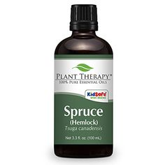 Spruce (Hemlock) Essential Oil. 100 ml (3.3 oz). 100% Pure, Undiluted, Therapeutic Grade. ** Special  product just for you. See it now! : peppermint essential oil