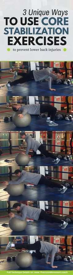 3 Training Techniques for Core Stabilization - Discover three most effective training protocols and core stabilization exercises you can do for a powerful, back-saving core. #core #strengthening #corestabilization #exercises #backinjuries