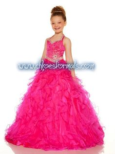 SUGAR 42621S FUCHSIA GIRLS PAGEANT DRESS
