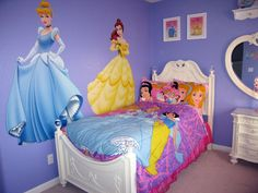 Disney Princess Wall Decals   disney princess bedroom decorating styles are including bed sets wall ...