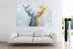 Öl Gemälde 'Hirsch in Sicht' 180x120cm