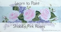 learn to paint pink roses in a few minutes, crafts, painting
