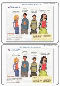 CLASE DE ESPAÑOL : describir #learn #spanish #kids