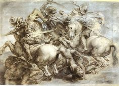 Peter Paul Ruben's copy of the lost Battle of Anghiari - アンギアーリの戦い (絵画) - Wikipedia