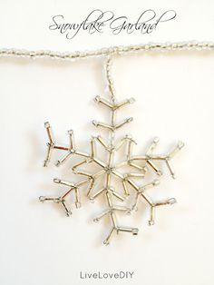 How to make your own beaded snowflake garland this Christmas!